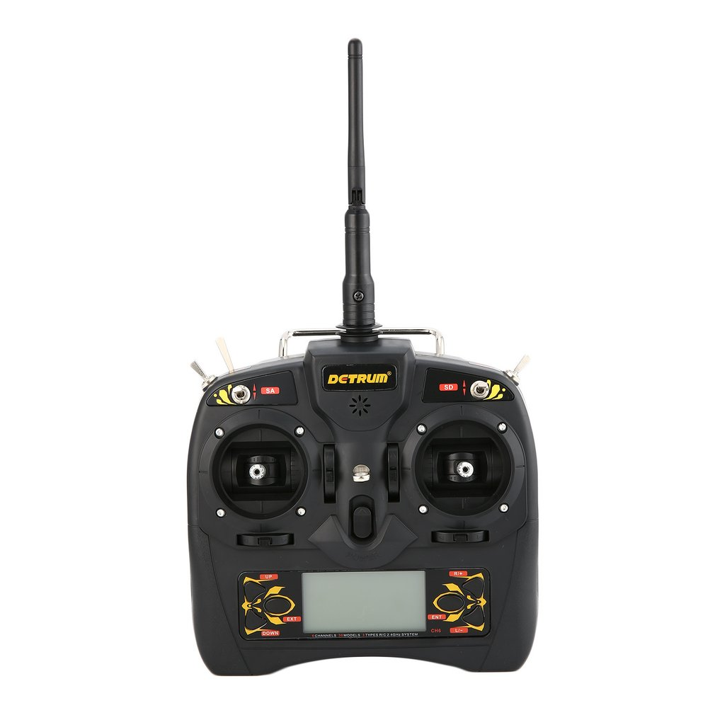 Detrum GAVIN-6C 2.4G 6CH Transmitter Radio Remote Control with DSSS&FHSS MSR66A DTM-T011 Receiver for Airplane Helicopter PartsDetrum GAVIN-6C 2.4G 6CH Transmitter Radio Remote Control with DSSS&FHSS MSR66A DTM-T011 Receiver for Airplane Helicopter Parts