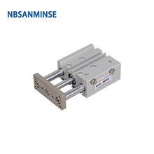 NBSANMINSE MGPL 50mm Compact Guide Cylinder Double Acting Compressed Air Automation Parts