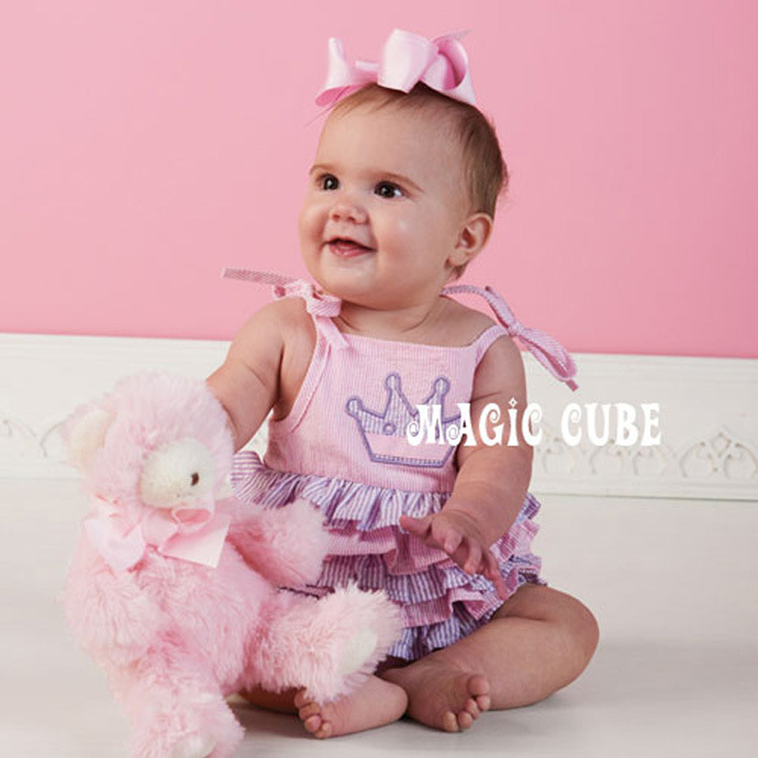 Baby newborn rompers Suspenders fashion pink cotton children clothing brand kids clothes Crowne Printing vetement enfant garcon.jpg