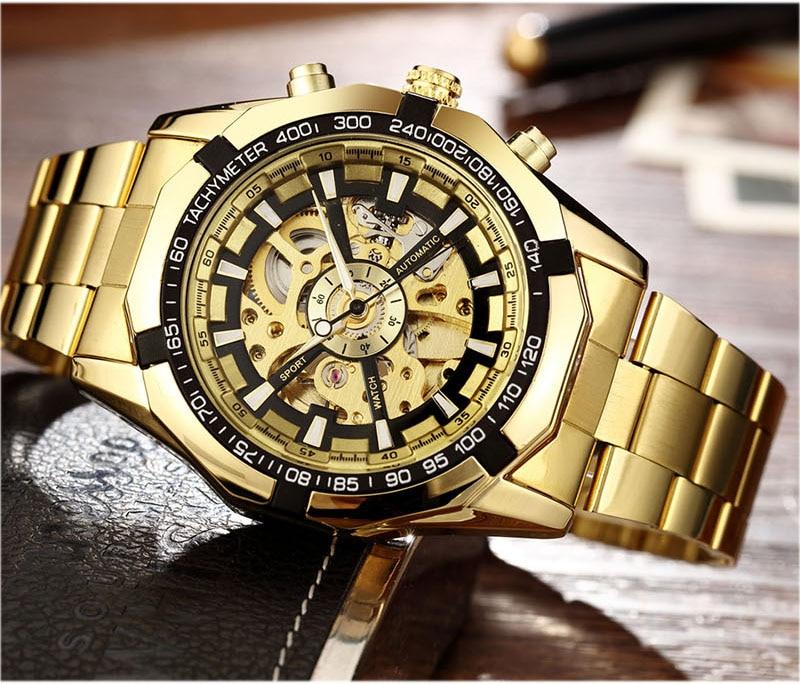 pulseira de ouro relógio de pulso marca