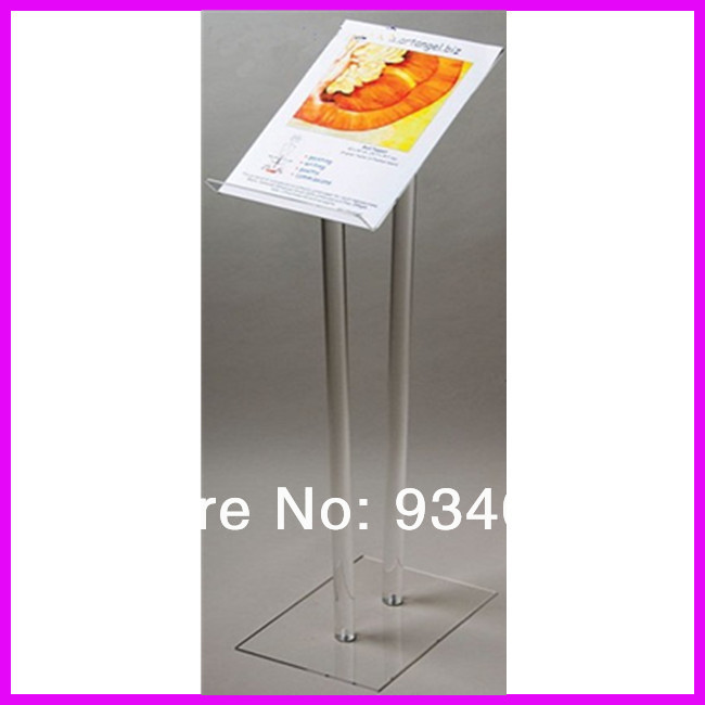 Simple Elegant Acrylic Lectern Transparent Acrylic Podium