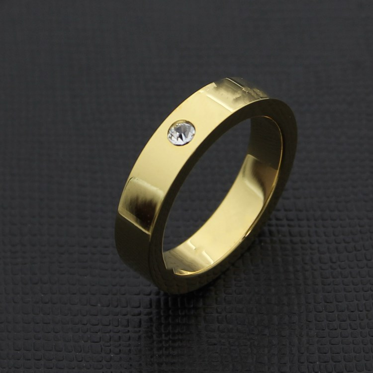 Fashion Design Wholesale Brand Carter Stainless Steel Finger Ring for Men Women CZ Stone Lovers Wedding Ring Gift Jewelry