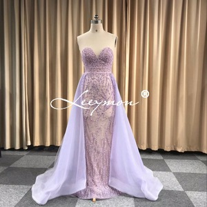Image 5 - Free Shipping Heavy Beaded Sexy Trumpet Evening dress 2020 Open Back Sleeveless Sparkly Crystals Prom Dress Custom Made