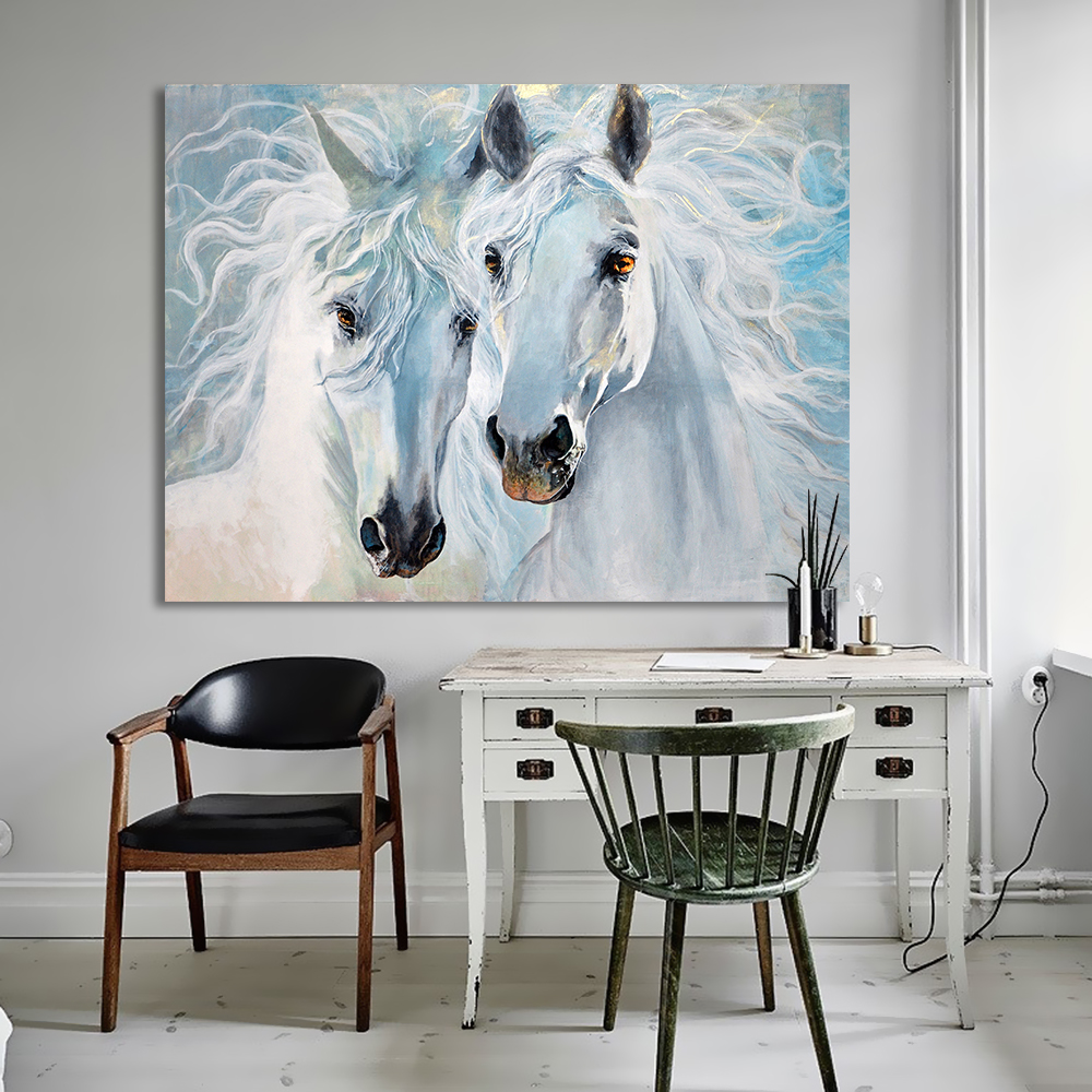 HDARTISAN Canvas Art Animal Painting Wall Pictures For