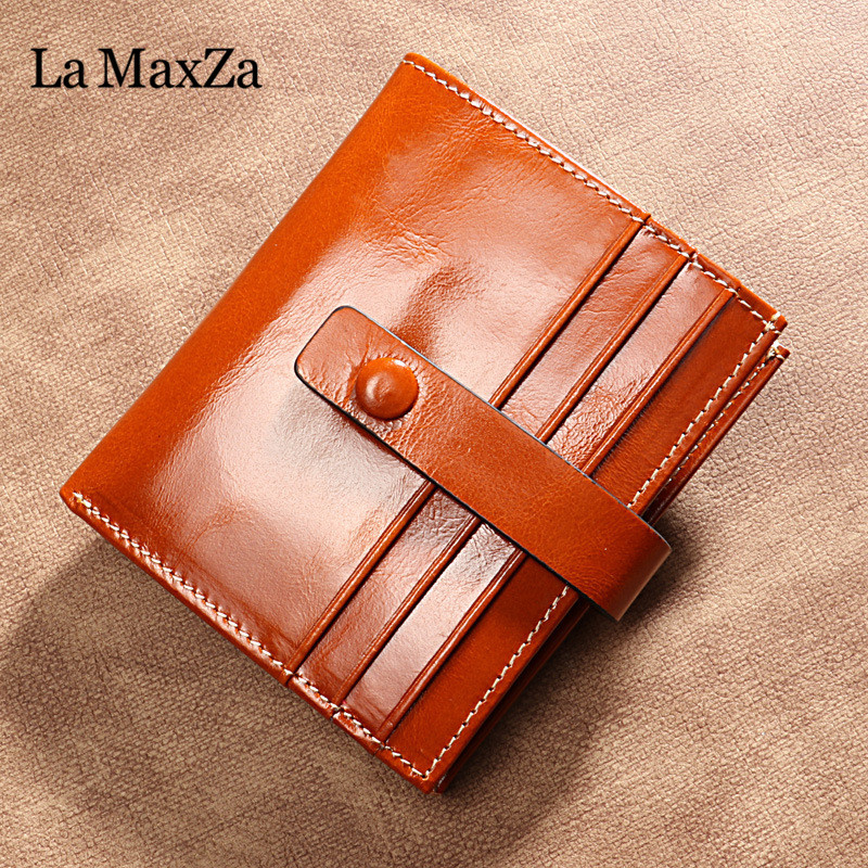 Brand, With, Short, Purse, Leather, Coin