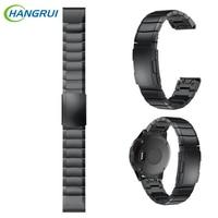 Hangrui Metal Stainless Steel Replacement Smart Watch Band Strap For Garmin Fenix 5 Fforerunner 935 Band