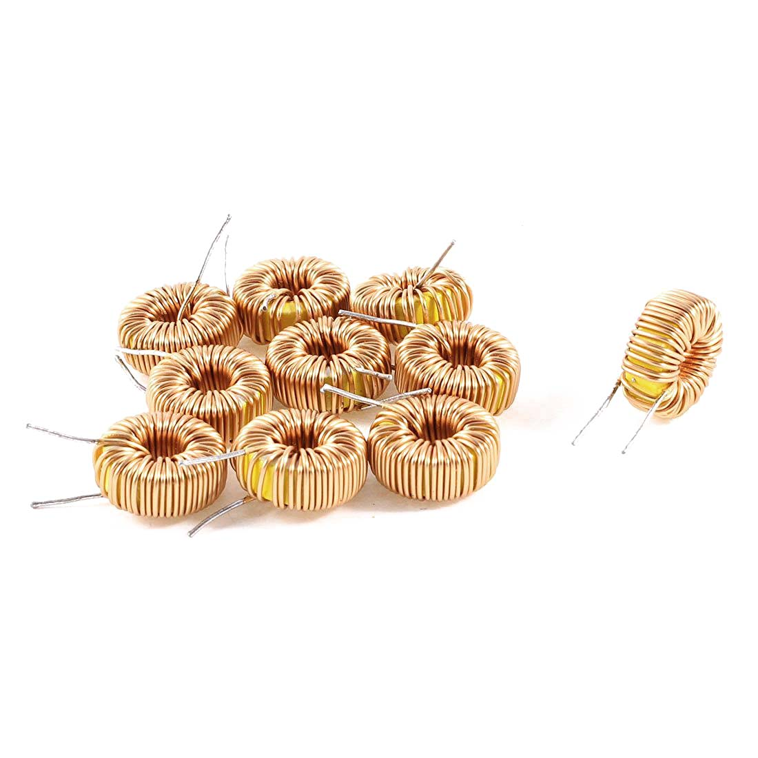 10 Pcs Toroid Core Inductor Wire Wind Wound 100uH 81mOhm 2A Coil rb6132 36 0m4 inductor mr li
