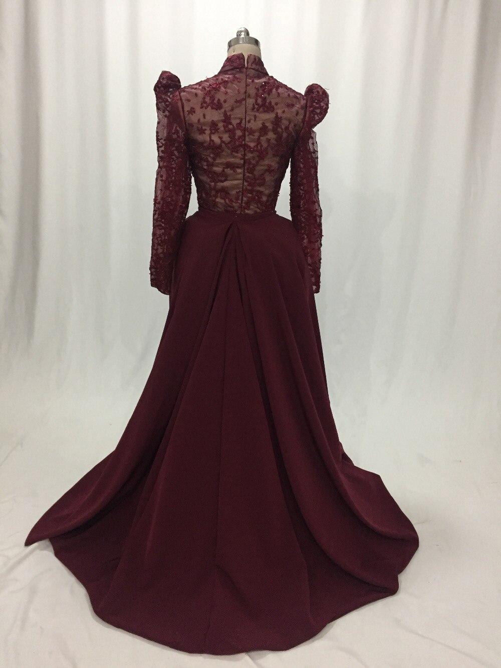Flash Sale ILUSY Elegante Dark Red Abendkleider Puffy ...