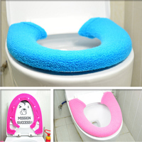 Thickening Wool Button Type Toilet Set Square General Thermal Potty Set Toilet Seats Cushion Toilet Sets