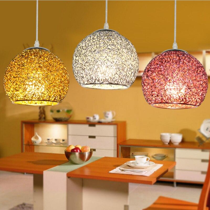 Moderne coloré boule en aluminium lampe pendentif lumière LED salle à manger bar boutique décoration luminaire intérieur AC110-265V