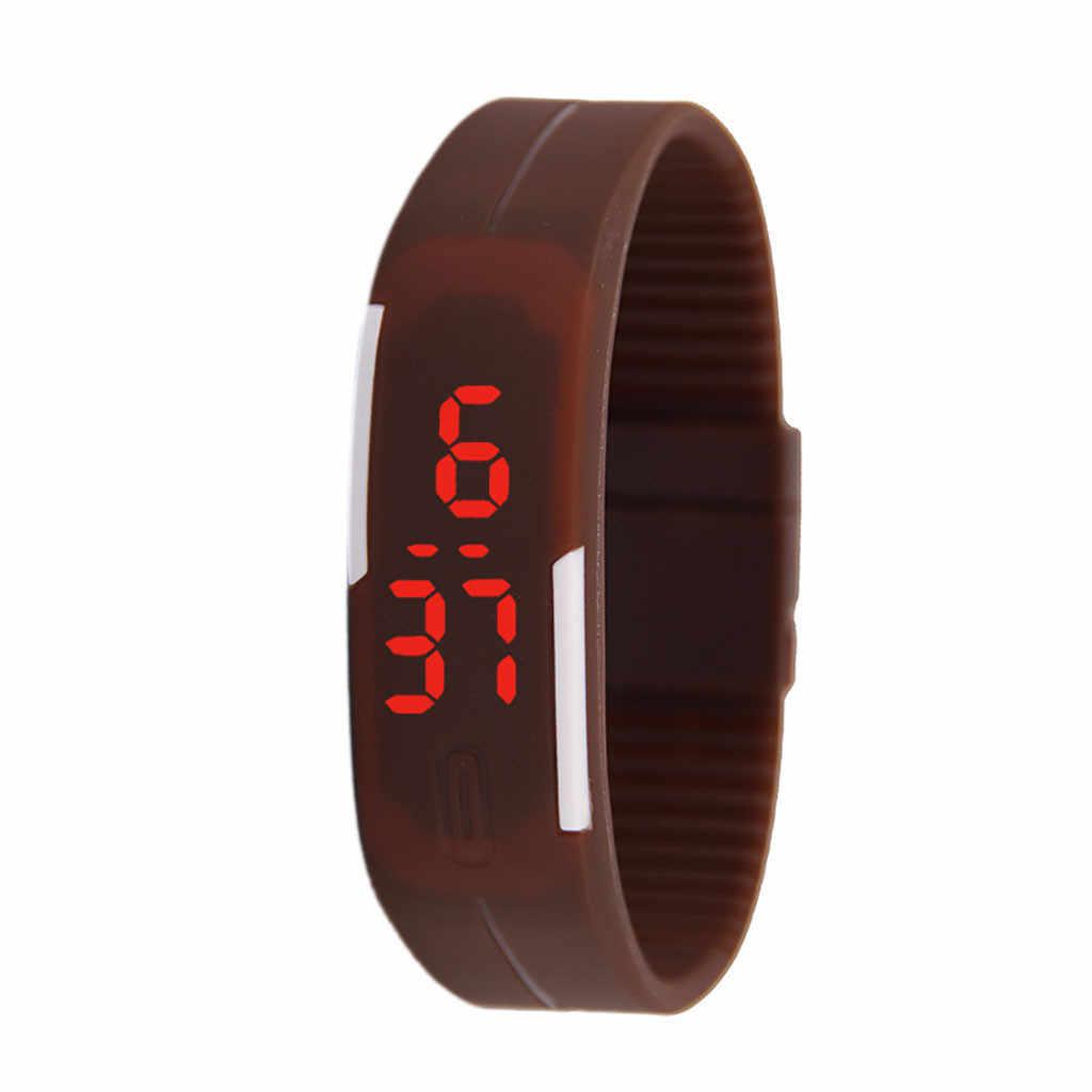 ספורט שעון נשים גברים דיגיטלי 2019 יחיד כפתור דק בנד LED שעון אלקטרוני צמיד סיליקון שעון relogio feminino