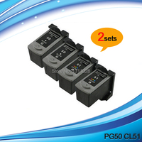 PG50 CL51 High Capacity Remanufactured Ink Cartridges For PIXMA IP2200 MX308 MX318 Fax JX200 JX201 JX300
