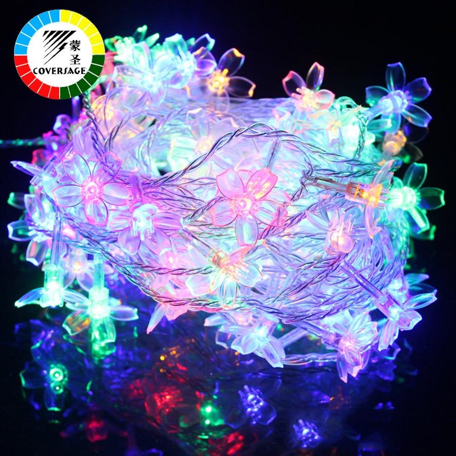 Coversage 10M 100 Led Рождестволық Гарленд - Мерекелік жарықтандыру - фото 4