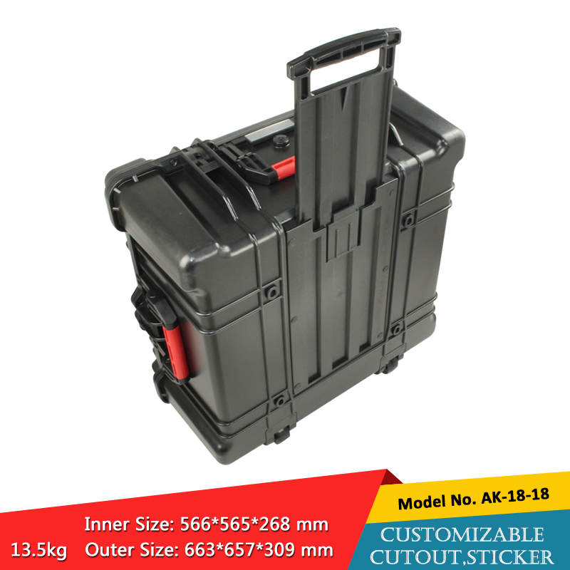 waterproof plastic hard tool carrying case pp and abs weatherproof equipment tool case with Sponge inside 663x653x309mm szomkwaterproof plastic hard tool carrying case pp and abs weatherproof equipment tool case with Sponge inside 663x653x309mm szomk