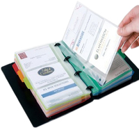 DELI 120to Take Easy Name Card Book Classification Name Card Clip Sheet