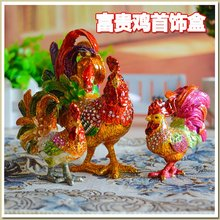 Russian diamond jewelry crafts box lucky auspicious color ornaments jewelry gift gift Home Furnishing big cock pet buda