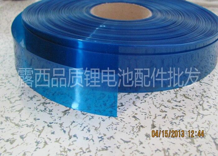 18650 bateria de lítio de PVC termoencolhível embalagem película de psiquiatra da pele de células achatamento 30 MM diâmetro 18 MM