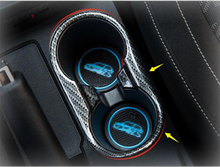 Yimaautotrims Front Seat Water Cup Holder Cover Trim Fit For MG ZS 2018 2019 ABS / Matte / Carbon Fiber Look Interior Mouldings цены