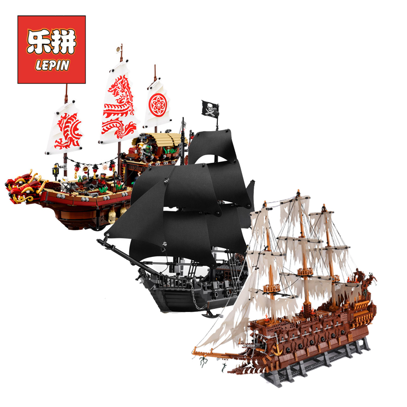 Lepin Pirates of the Caribbean 16006 16009 Black Pearl ship 16016 22001 06057 Legoinglys 4195 70618 Model Building kits Blocks lepin 16009 the queen anne s revenge pirates of the caribbean building blocks set compatible with legoing 4195 for chidren gift