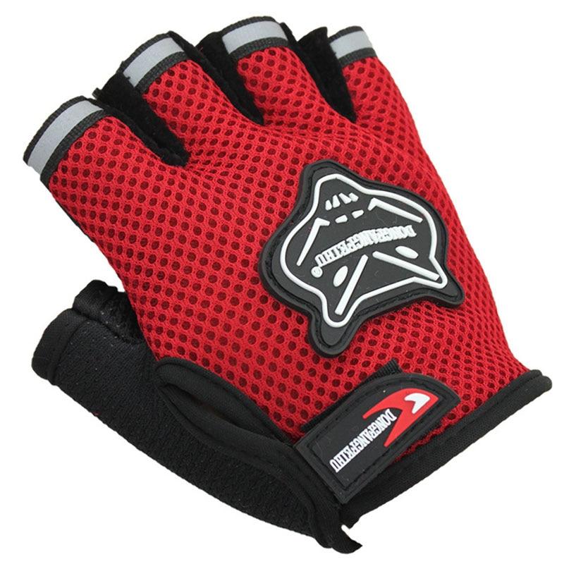 Children Half Finger Bike Gloves Breathable Anti-slip For Sports Riding Cycling