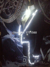 LED luminous Western-style clothes for performance/business suit/light-up suits/light with leds/Light Tuxedo/
