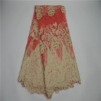 2017 High Quality Nigerian French Lace African Lace Fabric For Party Dress Free Shipping 5yards Lot