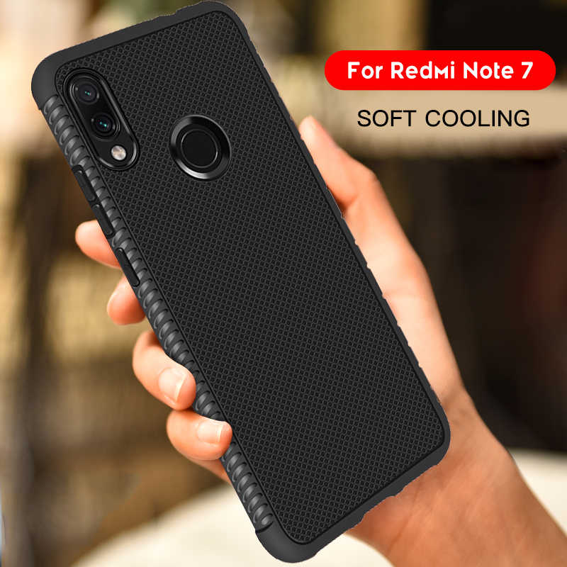 For Xiaomi Redmi Note 7 6 Pro 5 6 4 4X 6A 5A S2 Y2 Soft TPU Breathable Cover For Xiaomi Mi8 A2 Lite A1 5X 6X A2 PocoPhone F1 Bag