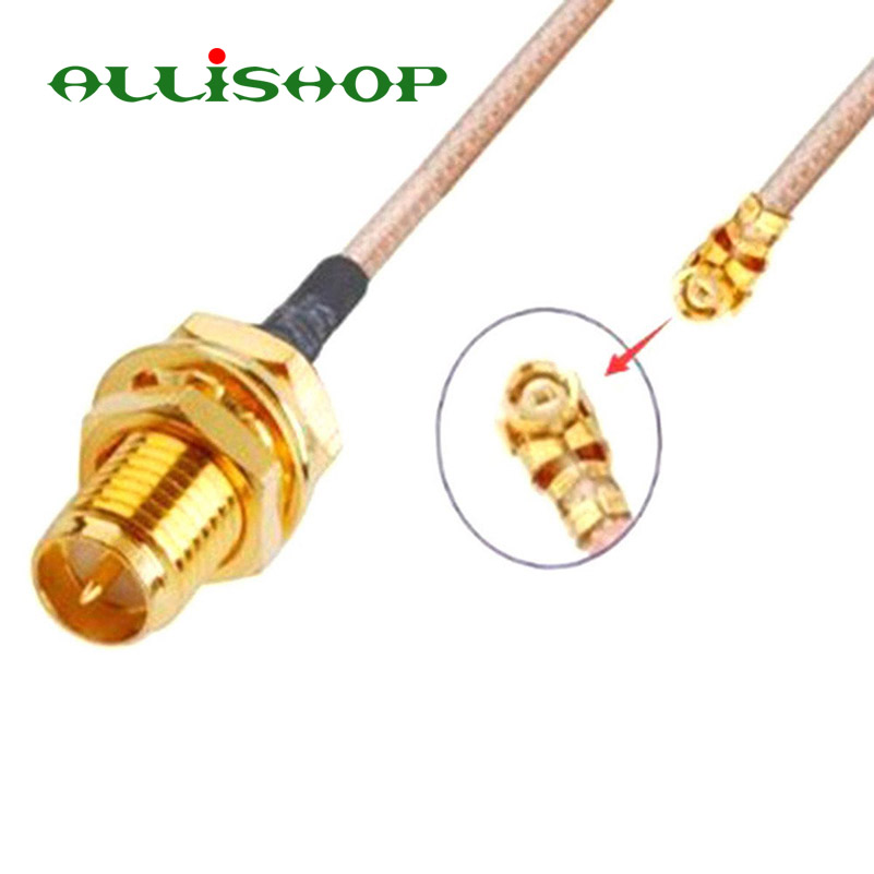 ALLiSHOP 0-6Ghz Extension pigtail rp-SMA female brooches plug adapter to U.FL IPX connectors RG178 cable for Wifi router GPS AP allishop 0 3ghz wifi router wireless phone ap extension pigtail rp sma female brooches plug to u fl ipx connector 1 13 cable