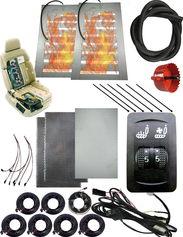 12V car seat ventilation/heater,Automotive Seat Ventilation System Plus Seat Warmer Kit Reduce AC +gasoline consumpt ...