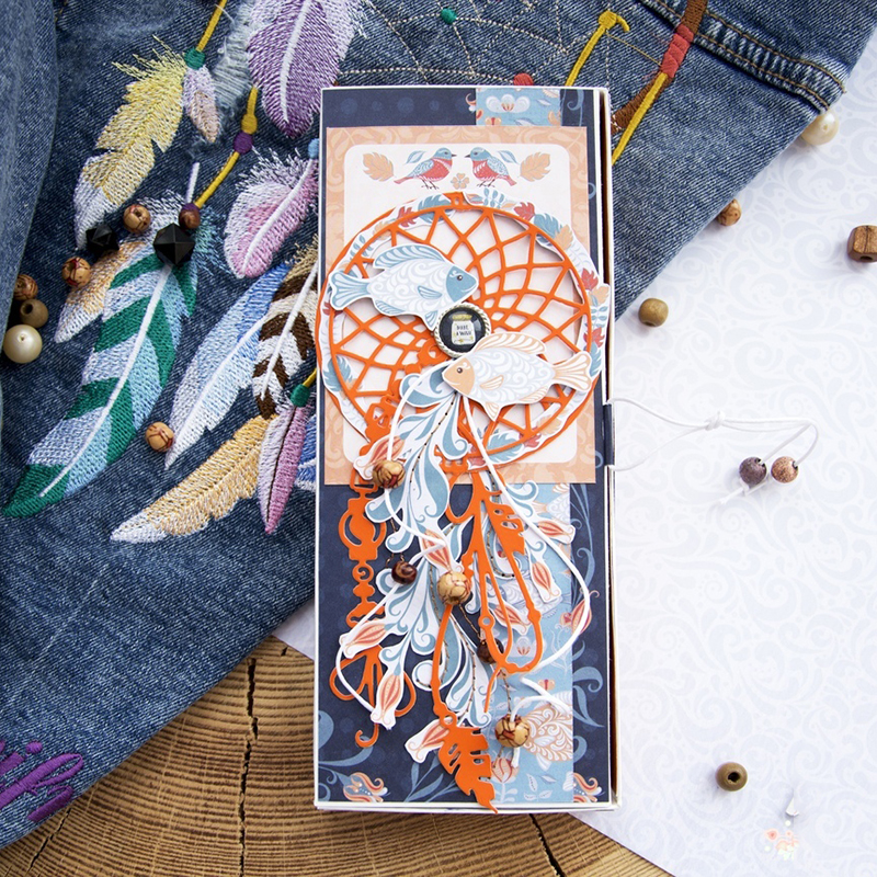 JC Metal Cutting Dies for Scrapbooking Hollow Circle Background Rope Craft Album Folder Stencil Card Making Template Decoration in Cutting Dies from Home Garden