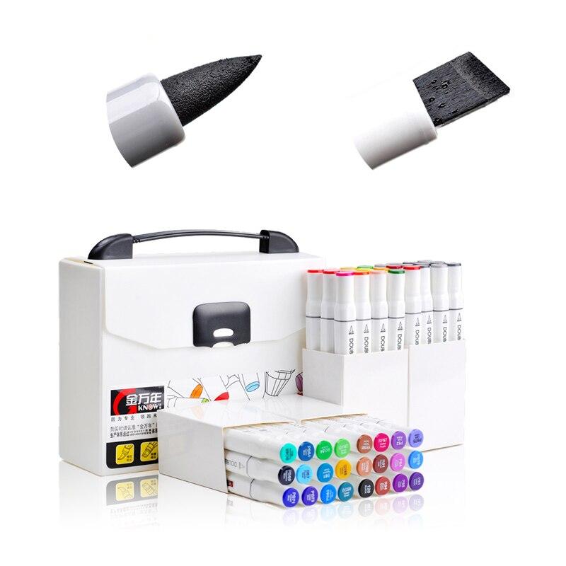 Haute qualité Arts fournitures burin et brosse double pointe pinceau marqueurs d'art Art graphique conception marqueur ensembles Marcadores