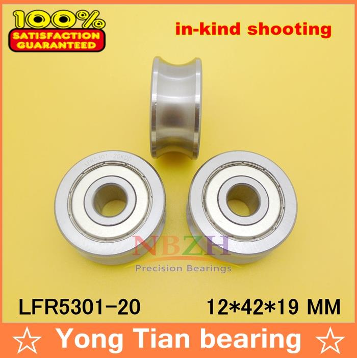 20 MM track LFR5301-20 NPP LFR5301 KDD R5301-20 2RS Groove Track Roller Bearings 12*42*19 mm (Precision double row balls) lfr5206 20 npp groove track roller bearings lfr5206 size 25 72 25 8mm