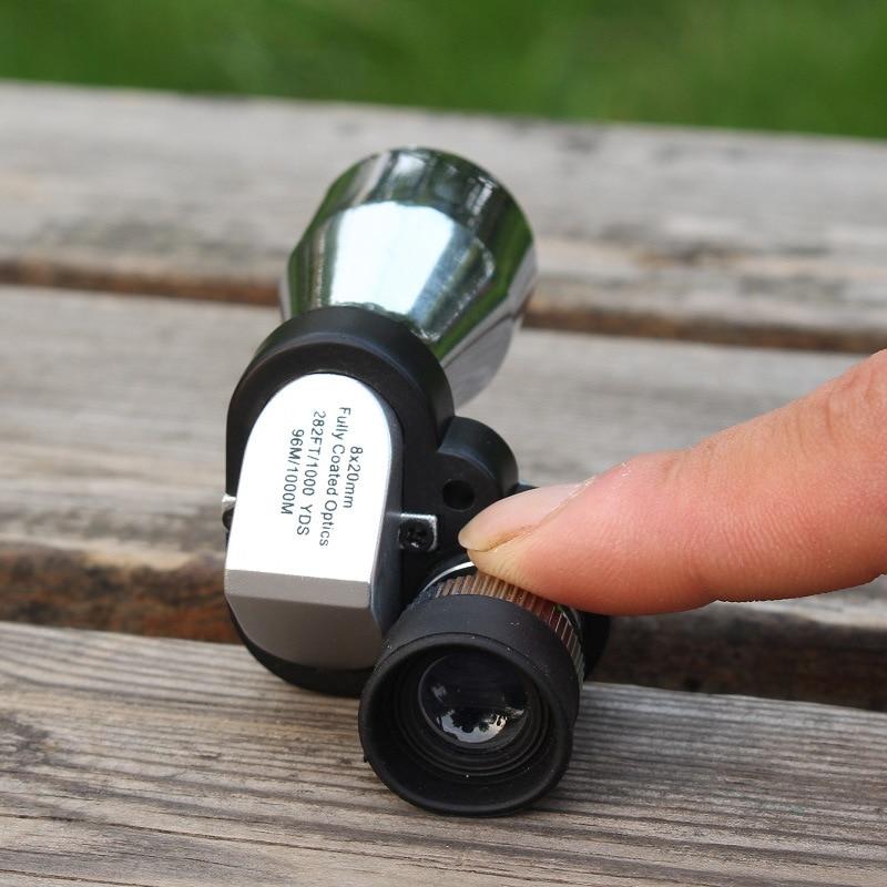 Image 2 - Mini 8x20 Monocular Telescope Adjustment Low Light Night Vision Binocular Spotting Scope Hunting Bird Watching-in Monocular/Binoculars from Sports & Entertainment
