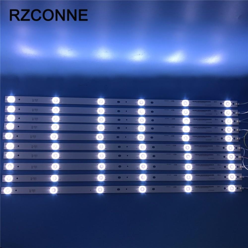 10pcs 575mm 6leds LED Backlight Lamps strip kit Board w/ Optical Lens Fliter for 55 inch LCD LED TV 18v input billboard 530mm led backlight strip for proline bravis 28c2000b 28 inch tv l2830hd svj280a01 rev3 5led 130402 m280x13 e1 h