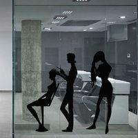 壁デカールヘアドライヤーサロンはさみくし美容マスタースタイリスト女の