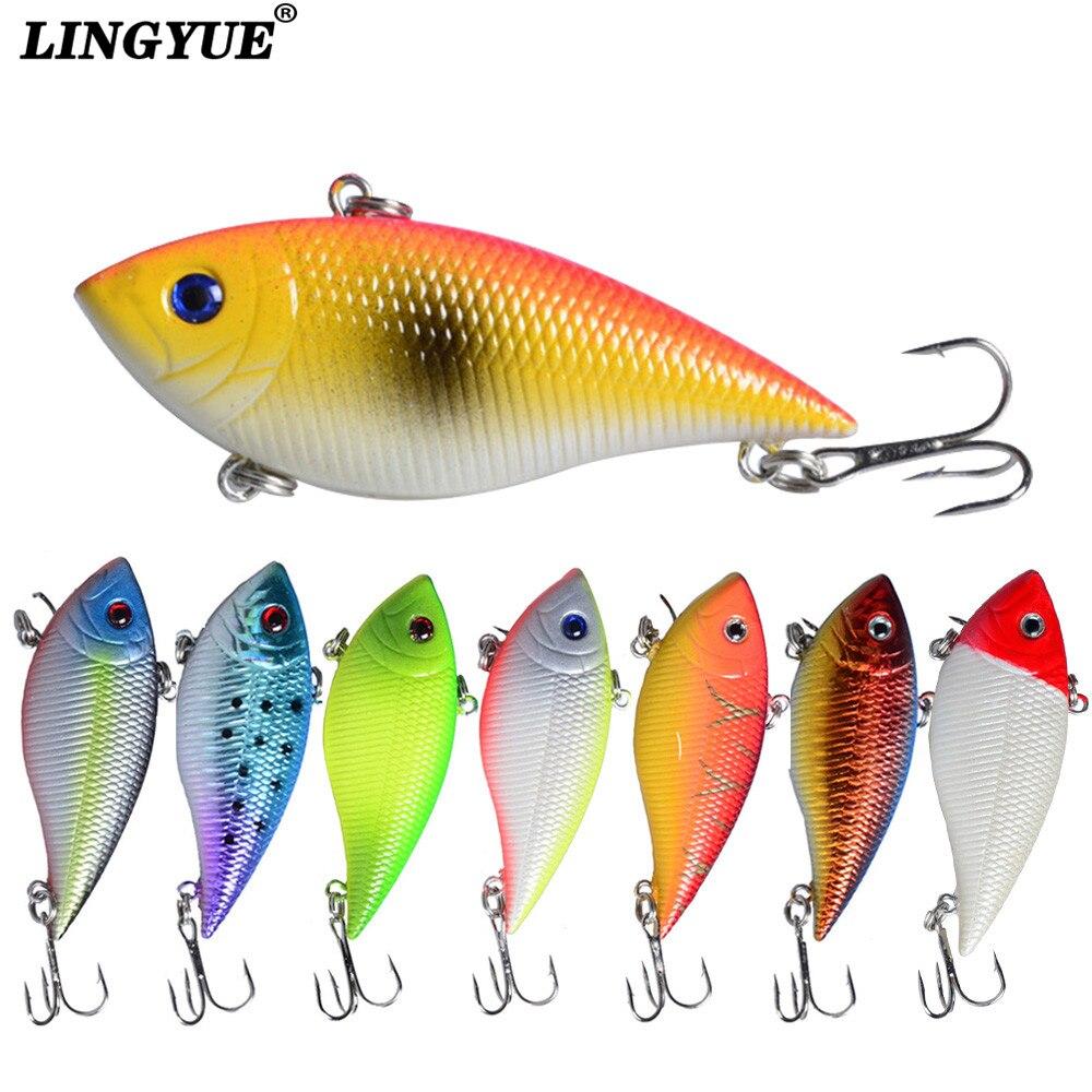 New Arrival 1pcs Fishing Lures 7cm 11g VIB Bait Artificial Make  8 Colors Jerkbait Hard Baits Bass Wobblers Fishing Tackle