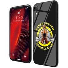 Dragon Ball Black Back Tempered Glass TPU Phone Cases