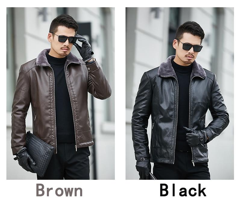 4331177105b Winter Fur Leather Jacket Mens Plus Size Suede Leather Jackets Men ...