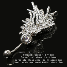 Sexy Titanium Steel Navel Piercing Body Jewelry
