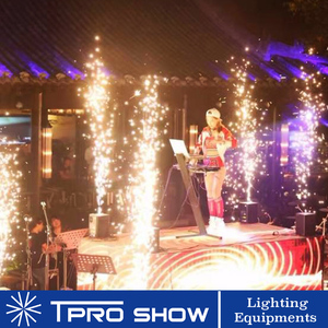Image 5 - Sparklers 400W Cold Fountain Fireworks Spark Machine Mini Stage Effect DJ Equipment Dmx Remote Control For Wedding Disco Party