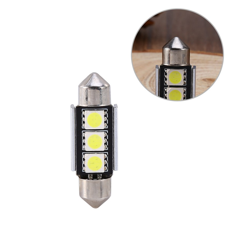 Xenplus 4PC Car Auto 36mm CANBUS Error Free 3 LED 5050 SMD 6418 C5W - Bilbelysning - Foto 4