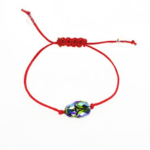 Baffin Scarab Bead Bracelet Crystals From Swarovski Lucky Red String Braiding Couple Bracelets For Men Women Kids Wish Jewelry(China)