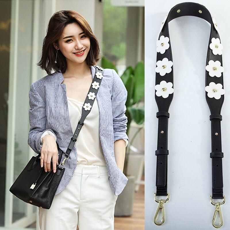Women Flower Leather Shoulder Bag Strap New PU Casual Adjustable Handbag Belts For Female 2019 Colorful Bag Parts Accessories