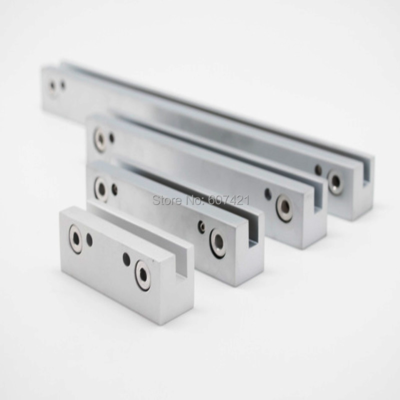 28cm Long Satin Silver Aluminum Sign Clamps ,Edge Grip Signage Rails for Glass Acrylic Clamp