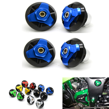 цены 4PCS Motorcycle CNC Frame Hole Cap Cover Plug Low & Up  for yamaha yzf r3 r300 r25 r250 2013-2016