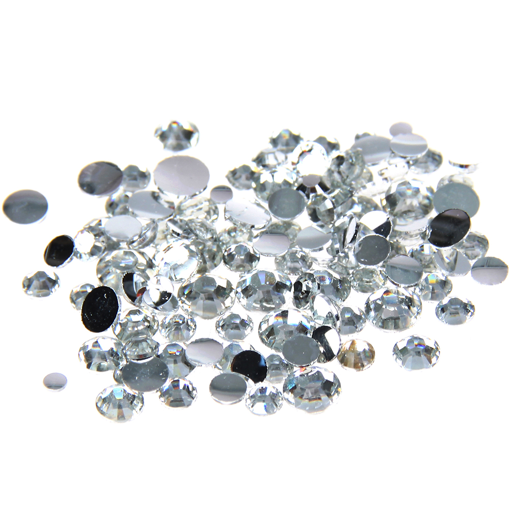 Crystal Clear Glue On Resin Rhinestones 1000-10000pcs 2-6mm Round Flatback Non Hotfix 3D Nails Art Stones DIY Crafts Accessories super shiny 5000p ss16 4mm crystal clear ab non hotfix rhinestones for 3d nail art decoration flatback rhinestones diy