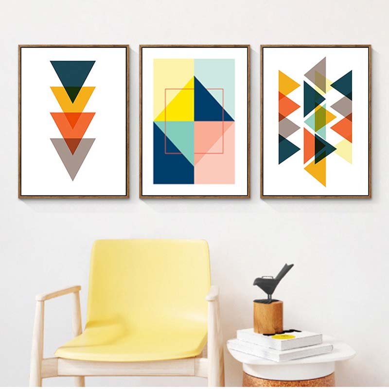 Minimalist Colorful Rug Designs: Modern Nordic Minimalist Colorful Abstract Geometric