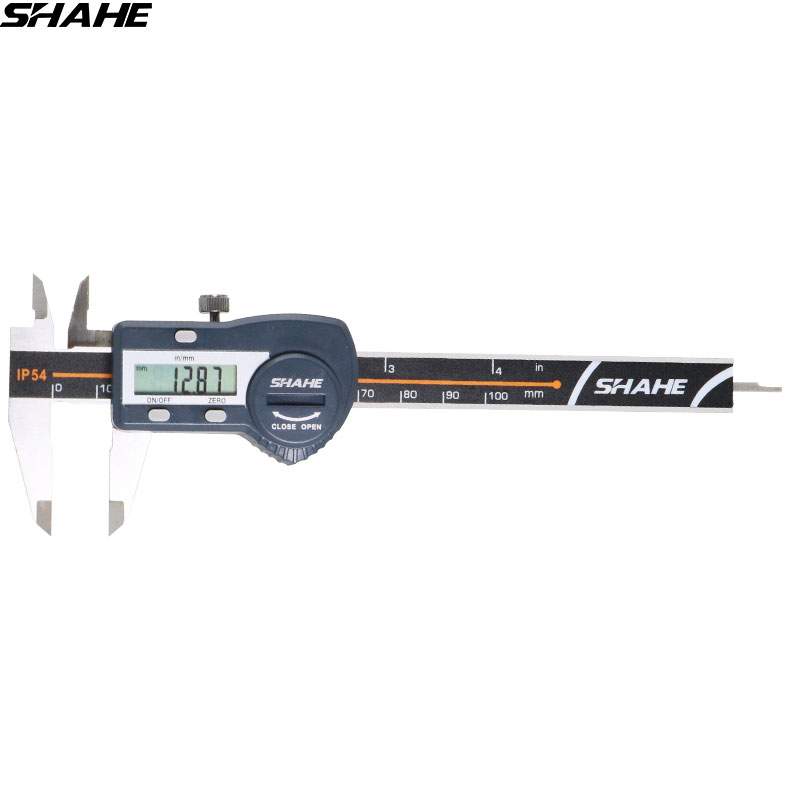 SHAHE IP54 Impermeabile 100mm 0.01mm Pinza In Acciaio Inox Elettronico Digitale Vernier Compasso di Micrometro Strumento di Misura