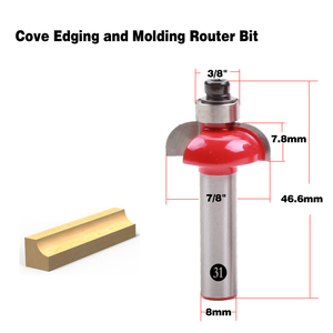 Image 3 - 1pc 8mm Shank wood router bit Straight end mill trimmer cleaning flush trim corner round cove box bits tools Milling Cutter