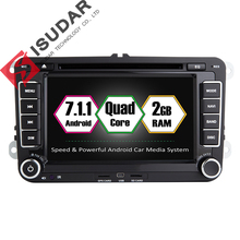 Android 7.1.1 2 Din 7 Inch Car DVD Player For VW/Volkswagen/POLO/PASSAT/Golf/Skoda/Octavia/Seat RAM 2G WIFI GPS Navigation Radio
